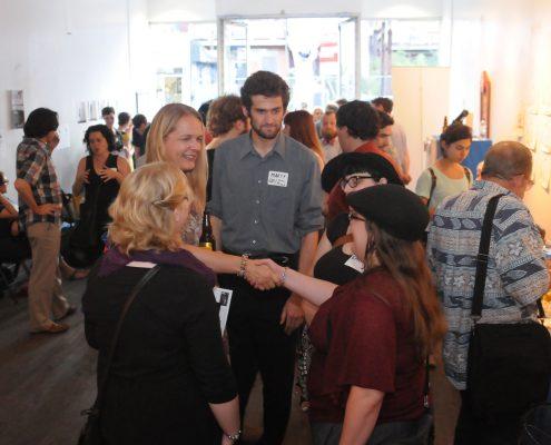 Artists mingle at the ELAN Schmoozer and QDF Calendar Launch