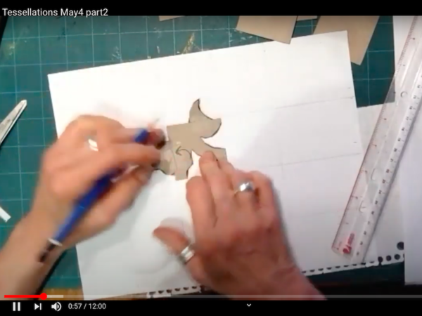 From the Tessellations workshop - Lisa Kimberly Glickman leading participants, step-by-step