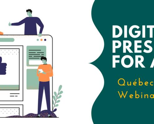 Digital Presence for Artists, Quebec Relations Webinar #6