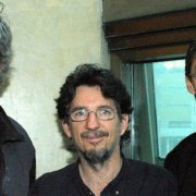 Guy Rodgers with Peter McFarlane, and Ian Ferrier at ELAN's 2004 Quebec Arts Summit