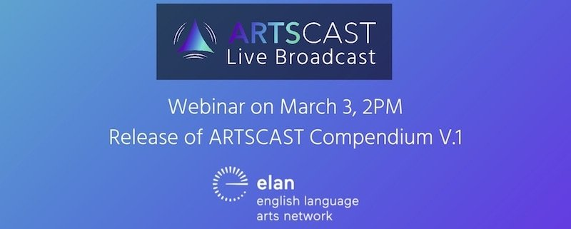 ARTSCAST Live Broadcast Webinar on March 3, 2 PM