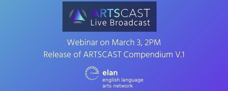 ARTSCAST Live Broadcast Webinar on March 3, 2 PM