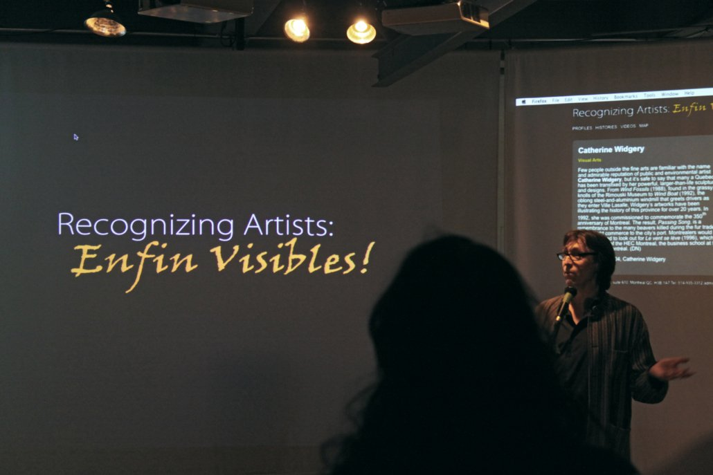 Guy Rodgers at the launch of Recognizing Artists: Enfin VIsibles!